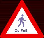 Schild Zu Fuß